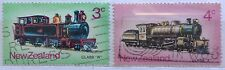 New Zealand Used Stamps - 2 pcs Train