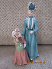 """Home Interiors #8812 Victorian Lady w/ Child 8.5"""" tall porcelain figurine Homco"""