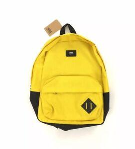 NEW Vans Old Skool III Off The Wall Backpack Bag Bookbag School Yellow Black