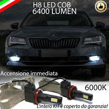 KIT FULL LED SKODA SUPERB III LAMPADE H8 FENDINEBBIA CANBUS 6400L 6000K