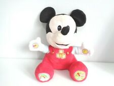 """INTERACTIVE MUSICAL 12"""" MICKEY MOUSE SOFT PLUSH TOY - MUSIC, ALPHABET, NUMBERS"""