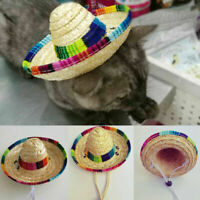 Mini Pet Hat Portable Sombrero Sun Hat Beach Party Straw Hats Dogs Mexican For