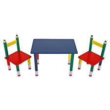 Kindersitzgruppe Tisch 2x Stuhl Kindermöbel Sitzgruppe Tischset Kinder Bunt Neu