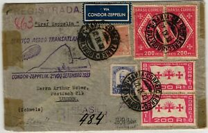 GP GOLDPATH: BRAZIL COVER 1933 AIR MAIL REGISTERED LETTER _CV698_P18