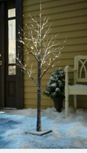NEW 3ft LED CHRISTMAS WARM WHITE SNOW TREE WITH 36 LED LIGHTS