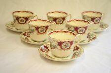 Foley Broadway China 6 x Tea Cups and Saucers E Brian & Co Ltd Exotic Bird