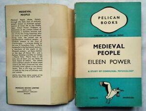 EILEEN POWER MEDIEVAL PEOPLE 1ST/1 1937 PENGUIN PELICAN A19 ILLS UNREAD JACKET!!