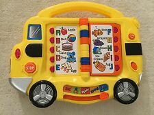 UNBRANDED YELLOW SCHOOLBUS TODDLER LEARNING TOOL ALPHABET SHAPES MUSIC SOUNDS