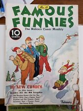 Famous Funnies #19 (Feb 1936, Eastern Color) beautiful white pages.  Buck Rogers