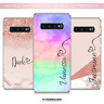 PERSONALISED PHONE CASE NAME INITIALS SILICONE CASE COVER SAMSUNG S20 S9 S10 S8+