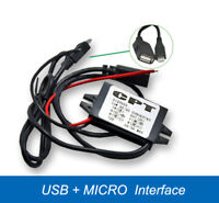 Dual USB Car Power Converter Phone Charging 12V to 5V 3A DC-DC Step-down Module