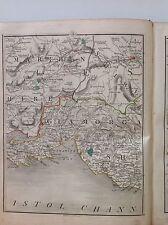 Glamorgan 1794 Cary's Antique Map Neath Merther Tydvil Swansea Bridgend