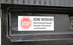"""Magnet-Schild """"Bitte keine Werbung"""" für Ihren Briefkasten kein Aufkleber [#1119]"""