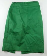 Express Womens Stretch Cotton Bright Green Knee Length Straight Pencil Skirt 6
