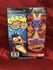 Crash Twin Sanity/Spyro Hero's Tale E3 2004 Limited Demo NEW SEALED RARE 🔥🔥