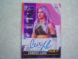 CANDICE LeRAE  2021 TOPPS WWE NXT PURPLE PARALLEL AUTOGRAPH SERIAL #59/75