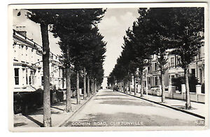 Godwin Road - Cliftonville Real Photo Postcard c1950s / Margate