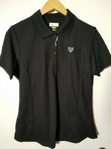 1 NWT GREG NORMAN WOMEN'S POLO, SIZE: LARGE, COLOR: BLACK (J184)