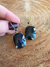Earrings 18k Gold Sapphire made in Italy