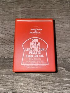 Vintage Benjamin Sheridan Diablo Target 5mm (20 cal.) Air Gun Rifle Pellets