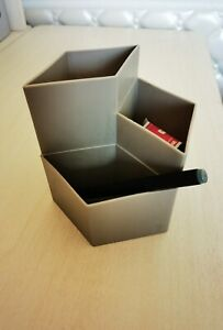 Second Hand Acrylic Pen Holder for Desk, Black Pencil Organizer,
