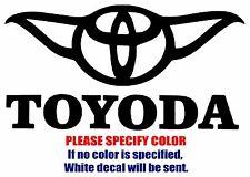 "TOYODA Toyota Funny Vinyl Decal Car Sticker Window bumper laptop tablet 7"""