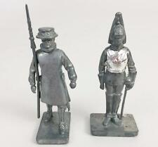 Wm Britains Unpainted Lead Soldier 1990 Lot 2 Beefeater & Guard New 54mm Vintage
