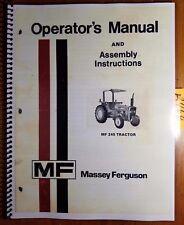 Massey Ferguson Mf 245 Mf245 Tractor Owner Operator Manual 1448 380 M5 6/78