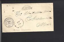 CHARLESTOWN,MASSACHUSETTS,1864 FANCY,AUXILLARY MISSENT & FORWARDED.