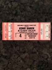 Kenny Rankin Gary Ogan 1978 Unused Concert Ticket Portland Oregon Paramount