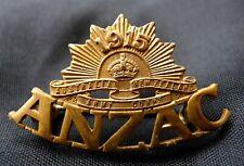 WW1 AUSTRALIAN AIF ANZAC BADGE '1915 AUSTRALIA NEW ZEW ZEALAND ARMY CORPS ANZAC