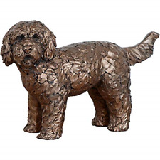 More details for frith cold cast bronze button labradoodle dog