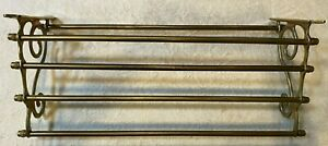 large brass Train Rack Shelf