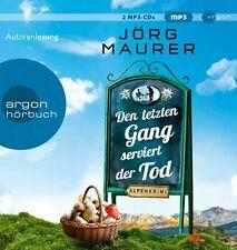 Den letzten Gang serviert der Tod - Alpenkrimi / Jörg Maurer (2 mp3-CDs) NEU!!!