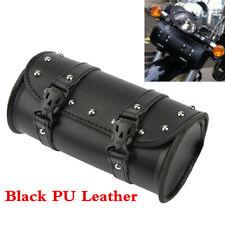 Motorcycle PU Handlebar Luggage Bag Saddlebag Fork Roll Barrel Bag For Touring