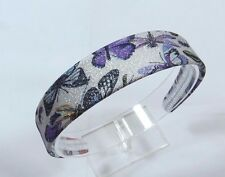 Sparkly Butterfly Dragonfly 1 1/4 inch wide smooth Women's Headband colorful E