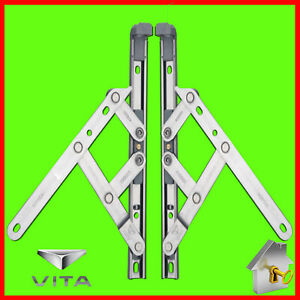 "PVC Window Hinge Friction Stay UPVC Window Hinges Pair 8"",10"",12"",16"",20"",24"""