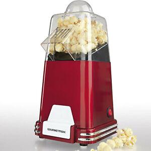 GOURMETmaxx Retro Heißluft Popcorn-Maschine Rot 1100 W Popcornmaschine Maker