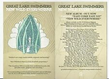 """Great Lake Swimmers - New Wild Everywhere promo postcard 4"""" x 6"""" tour dates"""