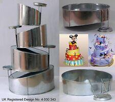 Topsy Turvy Rond Moules à gâteau pour mariage anniversaire gâteau - 4 étages