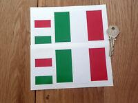 ITALIAN FLAG Set Of 4 Car or Bike STICKERS Italy Italia Tricolore Race Driver