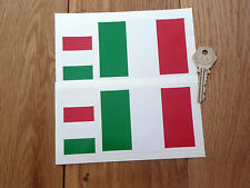 ITALIAN FLAG Set Of 4 Car or Bike STICKERS Italy Italia Tricolore Race Driver