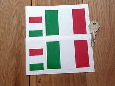 Bandera Italiana Set De 4 coche o bicicleta pegatinas Italia Italia Tricolore Race Driver