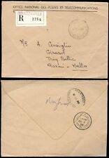 CONGO to MALTA REGISTERED OFFICIAL ENVELOPE to QORMI 1988