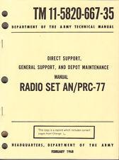 Radio Set AN/PRC-77, Maintenance Manual