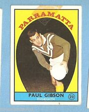 1968 - 1  SCANLENS RUGBY LEAGUE CARD #20  PAUL GIBSON, PARRAMATTA
