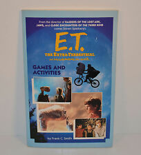 "Vintage 1982 E.T. 8"" Colornig & Activity Movie Book ET 8.25"" X 5.25"" by Wanderer"