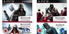 Assassins Creed 1 & 2 y revelaciones & Hermandad ps3 PAL región 2