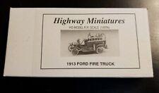 360-208 Jordan Highway Miniatures 1913 Ford Fire Truck HO