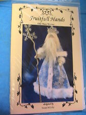 "Old Man Winter~Susan Lilly 18"" & 21-1/2"" With Crown~2016 cloth art doll pattern"